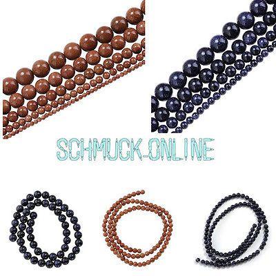 blaufluss goldfluss loose beads Perlen Strang Kette DIY 2mm 4mm 6mm 8mm 10mm