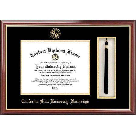 California State University, Northridge 8.5 inch x 11 inch Tassel Box and Diploma Frame