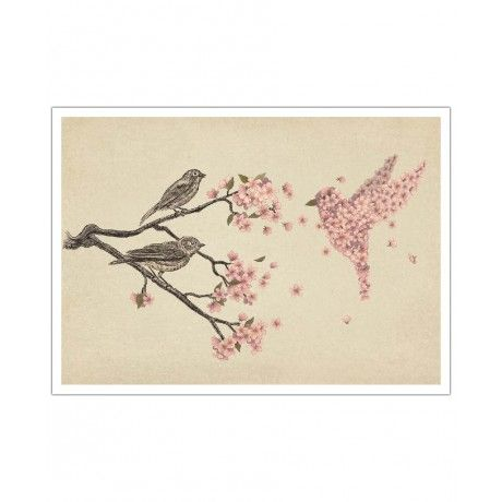 Blossom Bird as Art Print by Terry Fan | Art. Everywhere.