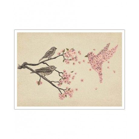 Blossom Bird as Art Print by Terry Fan | Art. Everywhere.