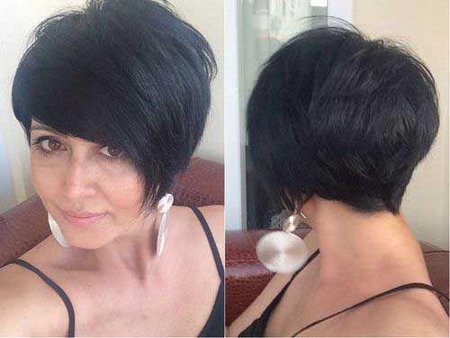el mejor corte de pelo corto de ideas para que el cabello lacio