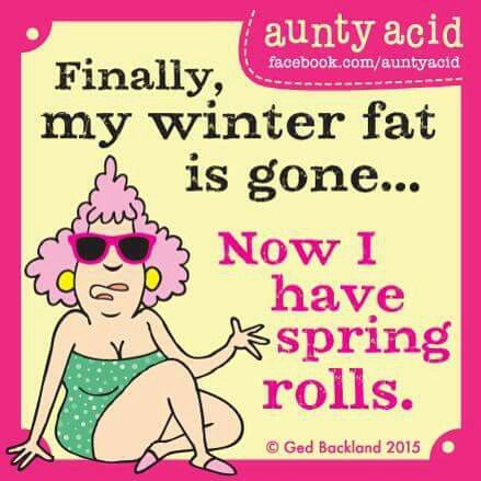 Fibally my winter fat is gone...Now i have spring rolls.