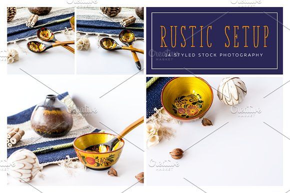 Rustic Setup, Styled Photo Pack by DIGITAL INFUSION on @creativemarket