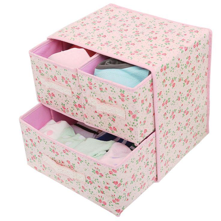 Double Layer Drawer Bra Underwear Sorting Boxes Non-woven Wardrobe Clothes Storage Box Cosmetics Clothing  sc 1 st  Pinterest & 25+ unique Clothes storage boxes ideas on Pinterest | Shelves for ... Aboutintivar.Com