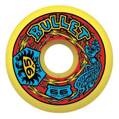 Santa Cruz BULLET ROUTE 66 Skateboard Wheels 66mm 95a YELLOW