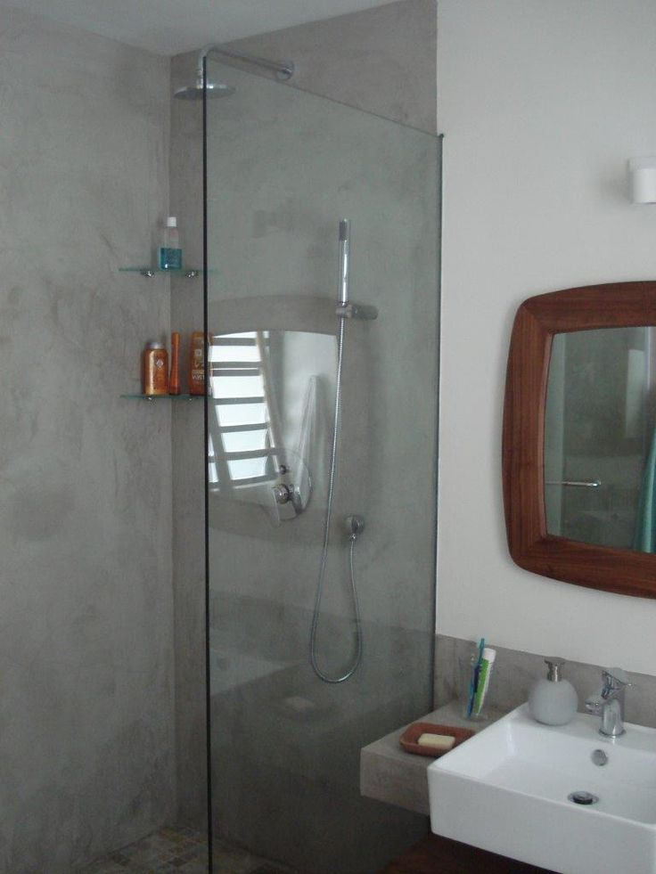 Satincrete For The Inside Of Your Shower Cemcrete