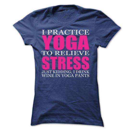 I PRACTICE YOGA T Shirts, Hoodies, Sweatshirts. CHECK PRICE ==► https://www.sunfrog.com/LifeStyle/I-PRACTICE-YOGA-T-SHIRTS-Ladies.html?41382