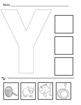 Number Names Worksheets : letter y worksheets for kindergarten ...
