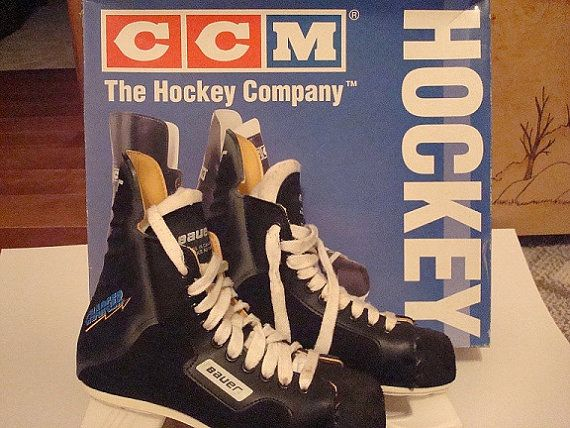 "Someone is selling these Bauer Chargers on etsy as ""Mens CCM Hockey skates"""