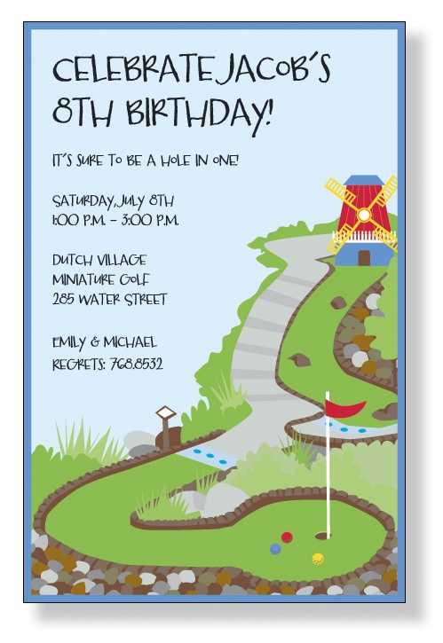 16 best Mini Golf Birthday Invitations images – Mini Golf Birthday Party Invitations
