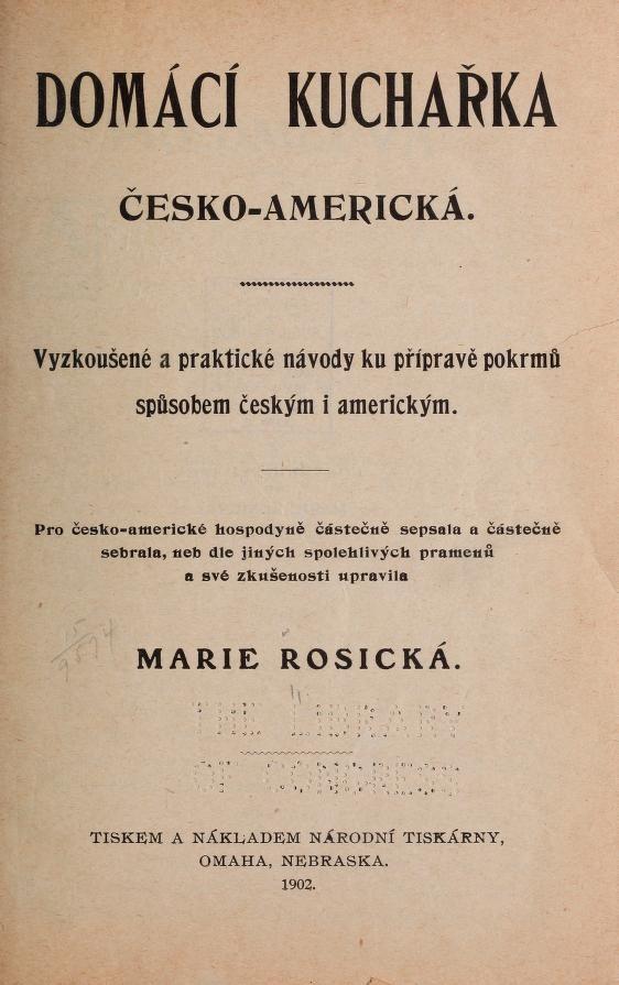 Domácí kucharka Cesko-americká..
