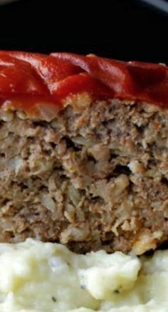 Grandma's Old Fashioned Meatloaf...not sure if the worcestershire sauce goes in the meatloaf or over the soup on top....