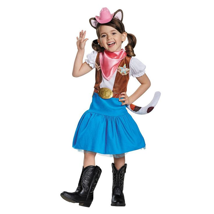 Disney Jr. Sheriff Callie's Wild West Toddler Costume, Girl's, Size: 2T, Multicolor