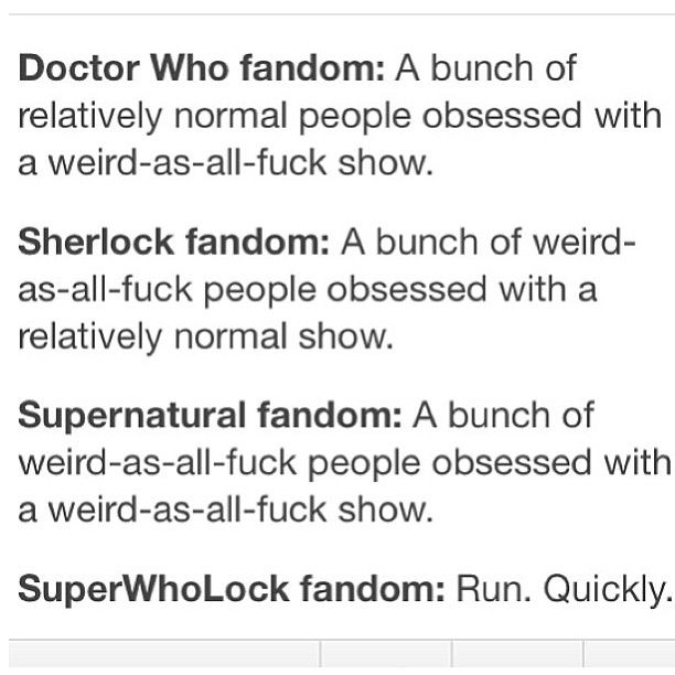 Accurate. However, I would NEVER classify sherlock as a normal show. For gods sake were introduced to the main character as he's whipping a corpse...