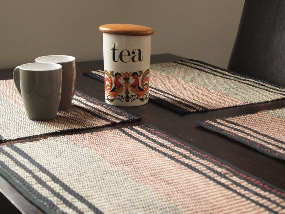 Hand Woven Placemats. A set of two. Jute. by IvelleTheHappyCow, €36.00
