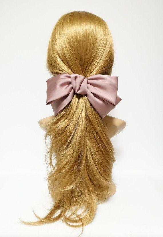 Texas Satin Hair Bow Very Big Satin Simple Bow French Hair Etsy In 2020 French Hair Hair Bows Hair Barrettes