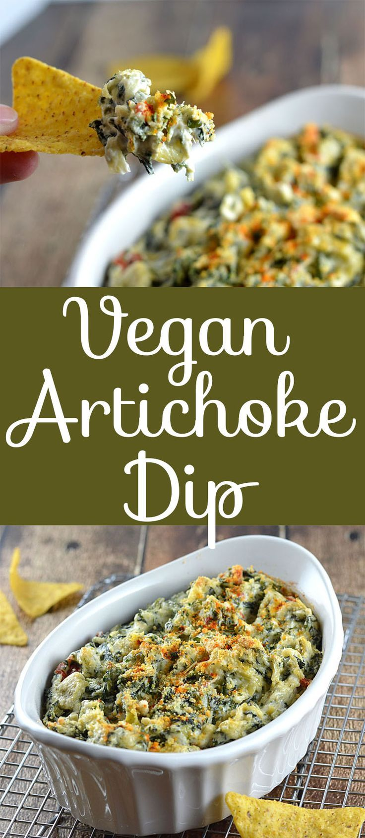 Vegan Baked Spinach and Artichoke Dip by The Veg Life!