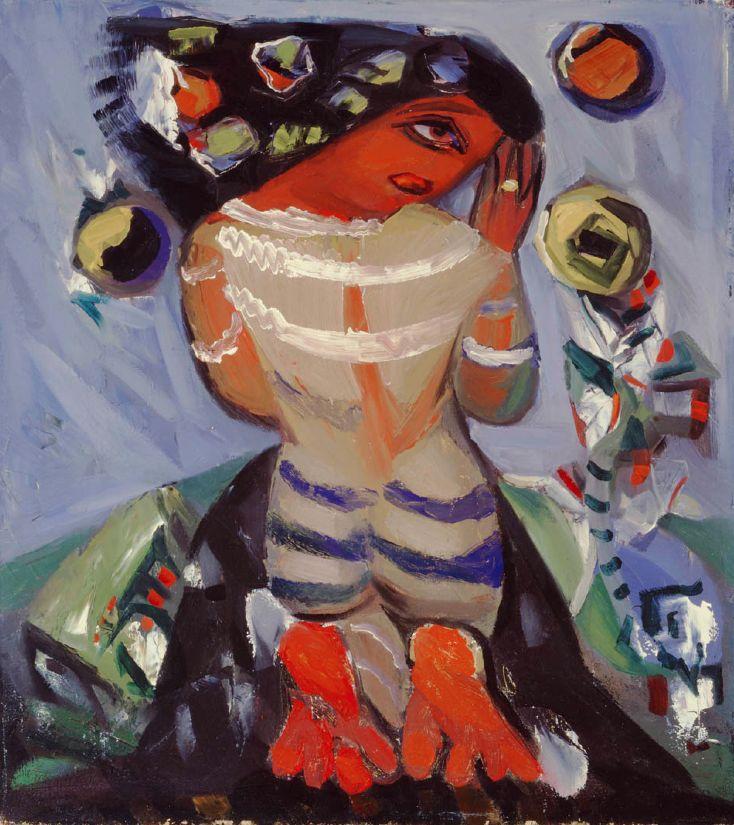 "Paul-Émile Borduas (1905-1960), 1941-46, ""1.46"" or ""La fustigée"", Oil on canvas. © Succession Paul-Émile Borduas / SODRAC (2015)"