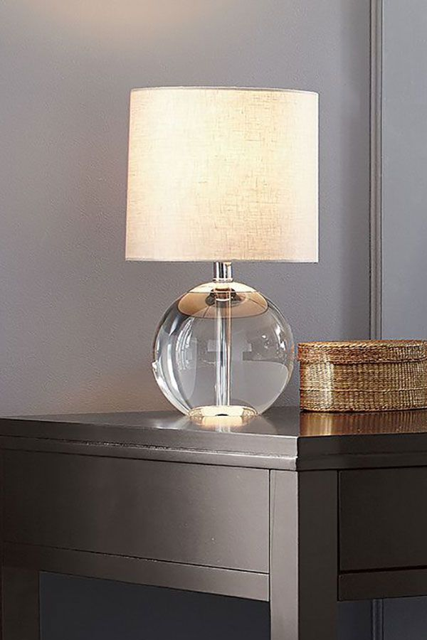 Sybil Globe Crystal Table Lamp Set Of 2 Reviews Crate And Barrel Shabby Chic Table Lamps Crystal Table Lamps Table Lamp Design