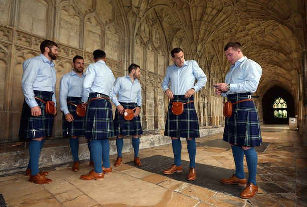 Can you imagine wearing a kilt to a fancy event?