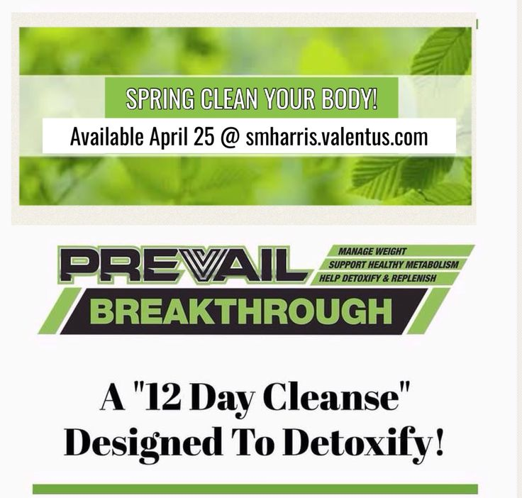 Detox and cleanse with Breakthrough!