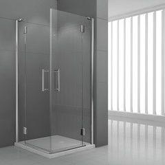 Box doccia Modulo 2 ante a battente trasparente/cromo 86.5-89,5 cm