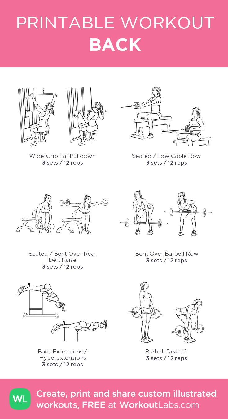 Clean image for printable workout routines
