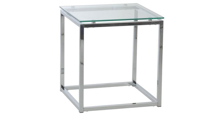 This minimalist table is made with a sturdy chromed-steel base and an easy-to-clean transparent tempered-glass top.In 1985 Trig Liljestrand began importing furniture from his native Sweden into the...
