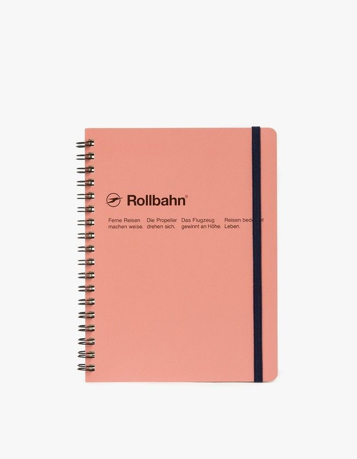 "Rollbahn Spiral Notebook Large Size 5.5""x7"""