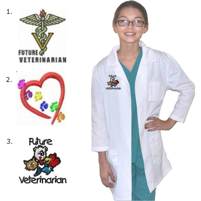 Kids Veterinarian Costume with embroidery design $25.98 ...