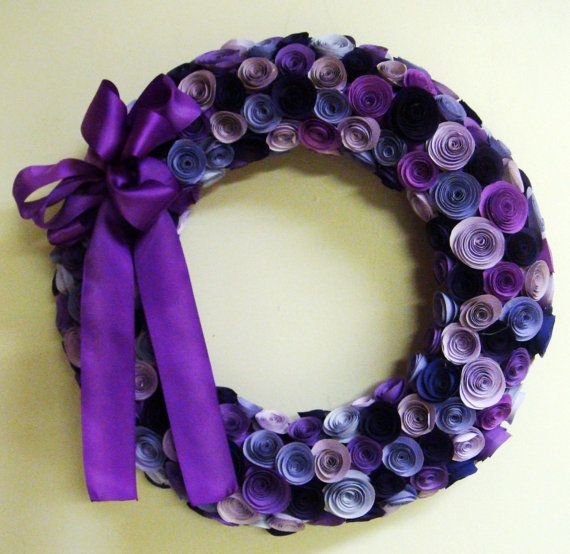 Wreath 15 inches in your choice of color or colors Mother's Day Easter spring summer. $65.00, via Etsy.