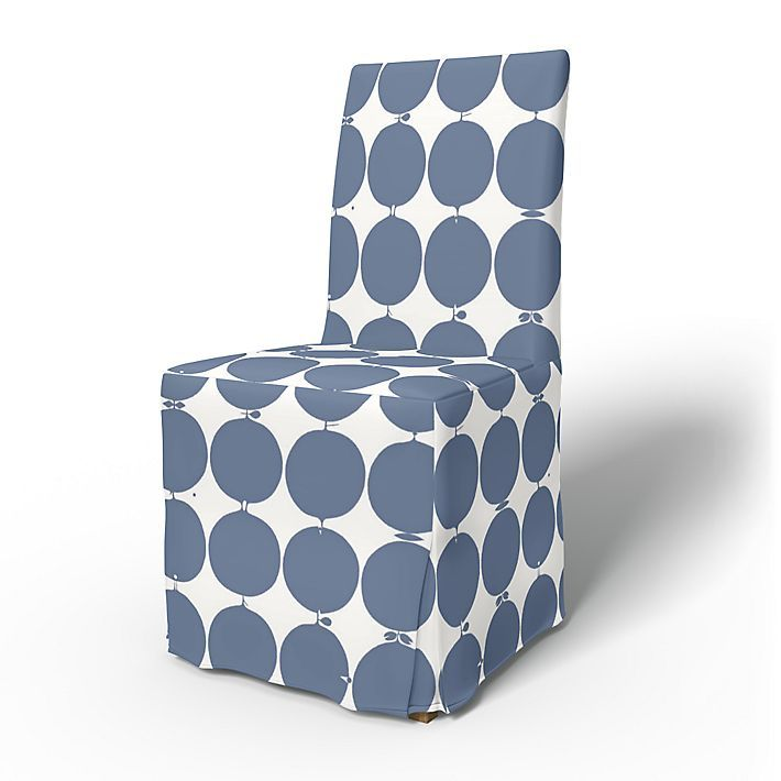 Henriksdal, Chair Covers, Chairs, Regular Fit long skirt, box pleats using the fabric Tallyho Blue
