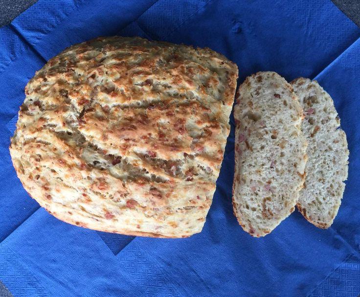 Rezept Blitzschnelles Zwiebel-Käse-Schinken-Brot von Hannebue - Rezept der Kategorie Brot & Brötchen