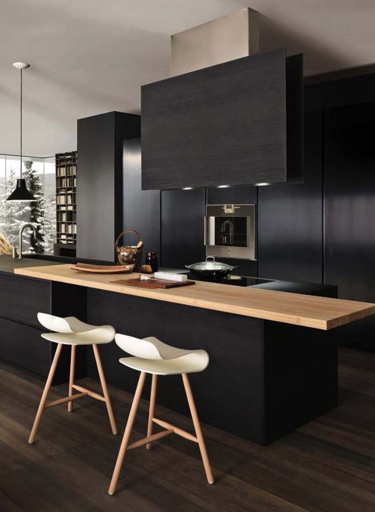 Dramatic Black Kitchen Ideas-16-1 Kindesign