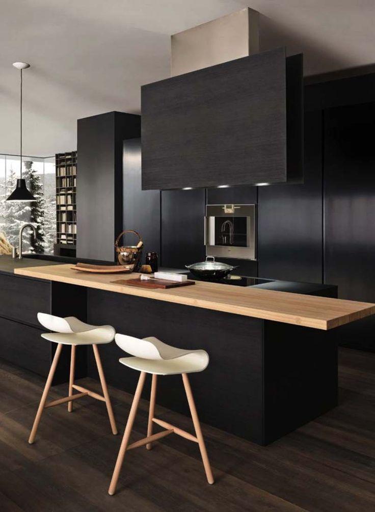 Black Kitchen Top : 17 best ideas about Black Kitchens on Pinterest Elegant home decor ...