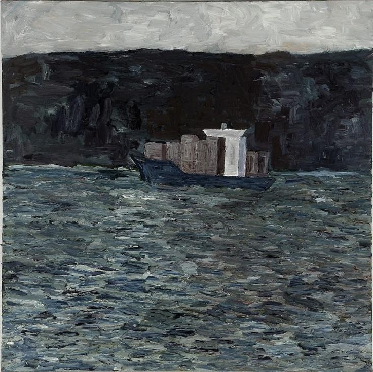 Grey Seas, Mornington Peninsula, 2008  Artist: Julian Twigg  Medium: Oil on linen  Dimensions: 123 x 123 cm