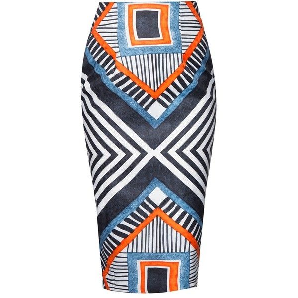 MDSCOLLECTIONS Enya Skirt in Aztec found on Polyvore featuring skirts, aztec print skirt, aztec skirt and aztec pattern skirt
