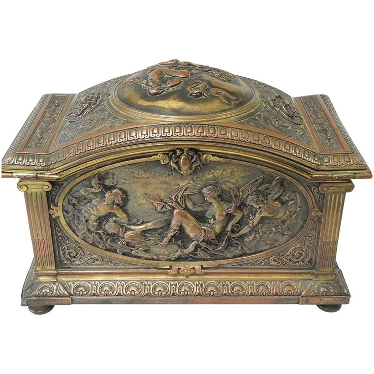 Spectacular French Jewelry Casket / Box Signed Oudry c.1910 from Statewide Antiques on Ruby Lane