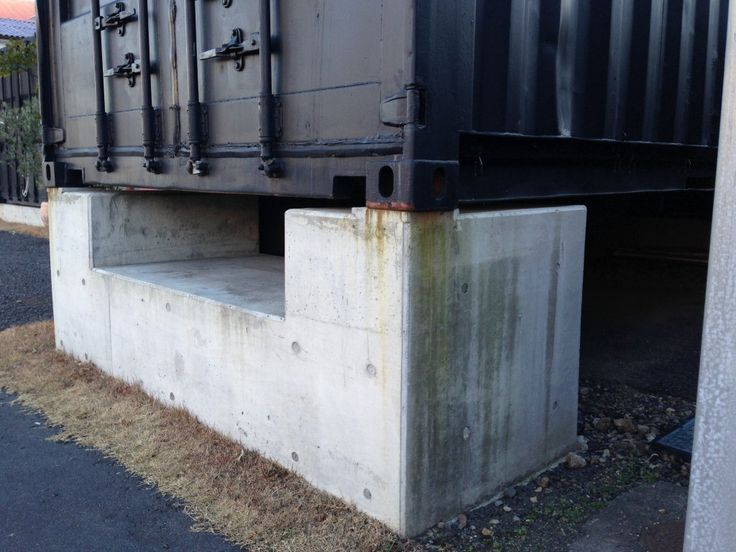 25 best ideas about concrete footings on pinterest deck for Shipping container pier foundation