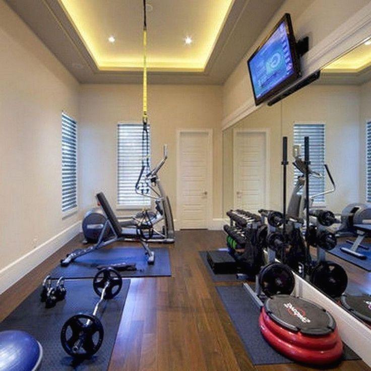 Gym Room At Home Decor, Basement Workout Room Design Ideas