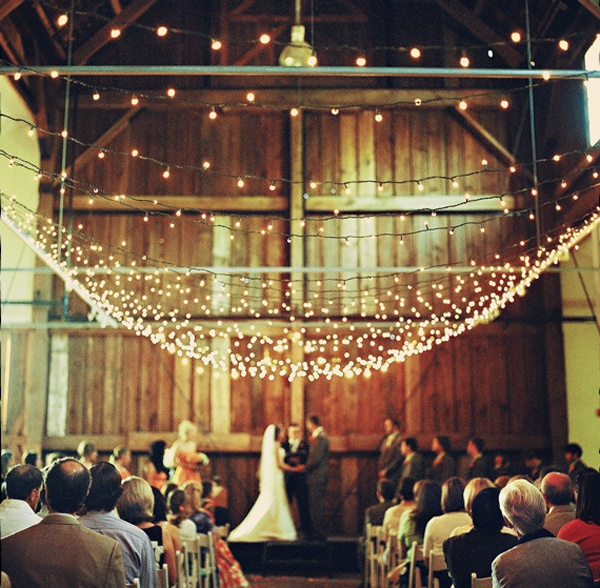 Rustic Indoor String Lights : 25 curated Rustic Wedding String of Lights ideas by luxury_weddings Receptions, Wedding and ...