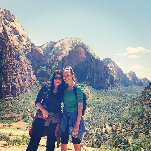 Bria and Chrissy in Zion Utah