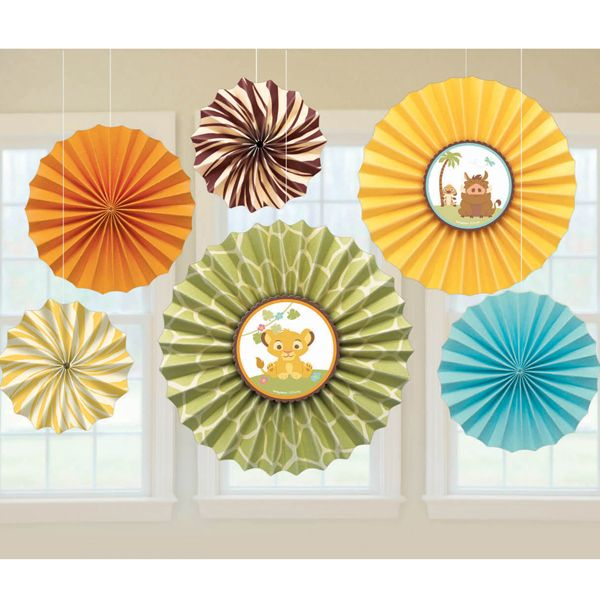 Lion King Baby Paper Fans
