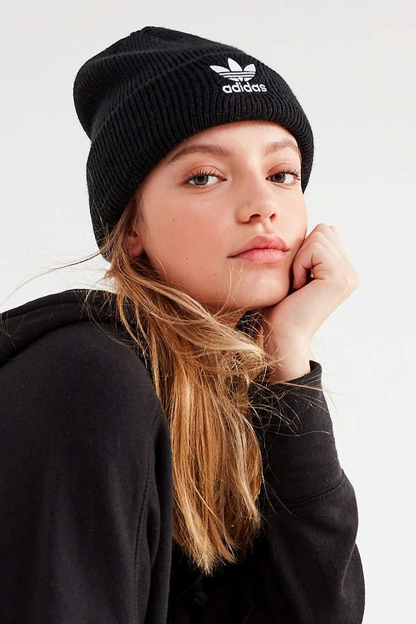Slide View  1  adidas Originals Trefoil II Knit Beanie  c501523dd3e