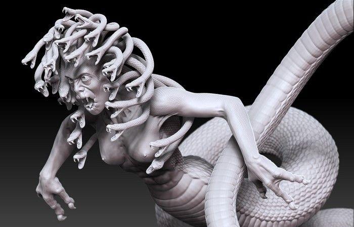 📖 Миф о Горгонах рассказывает о трех сестрах (Медузе, Сфено и Эвриале), наиболее известной из которых является Медуза. Первоначально они были красивыми девушками, которых затем превратила в отвратительных монстров разгневанная Афина.  Чудовищным сестрам приписывают способность превращать человека в камень одним взглядом. На большинстве монет, амулетов и предметов искусства с изображением Горгоны обычно встречается только одна, которая считается сочетанием всех трех женщин, – Медуза…