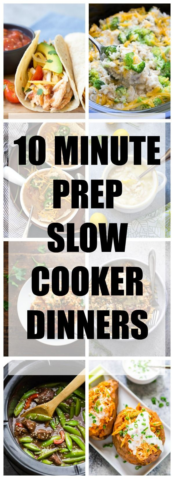10 Minute Prep Slow Cooker Dinner Recipes! Super EASY crock pot meals for your busy days! | http://www.kristineskitchenblog.com
