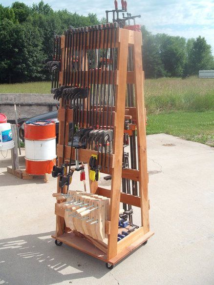 45 best images about clamp racks on pinterest shops for Mobile lumber storage rack plans