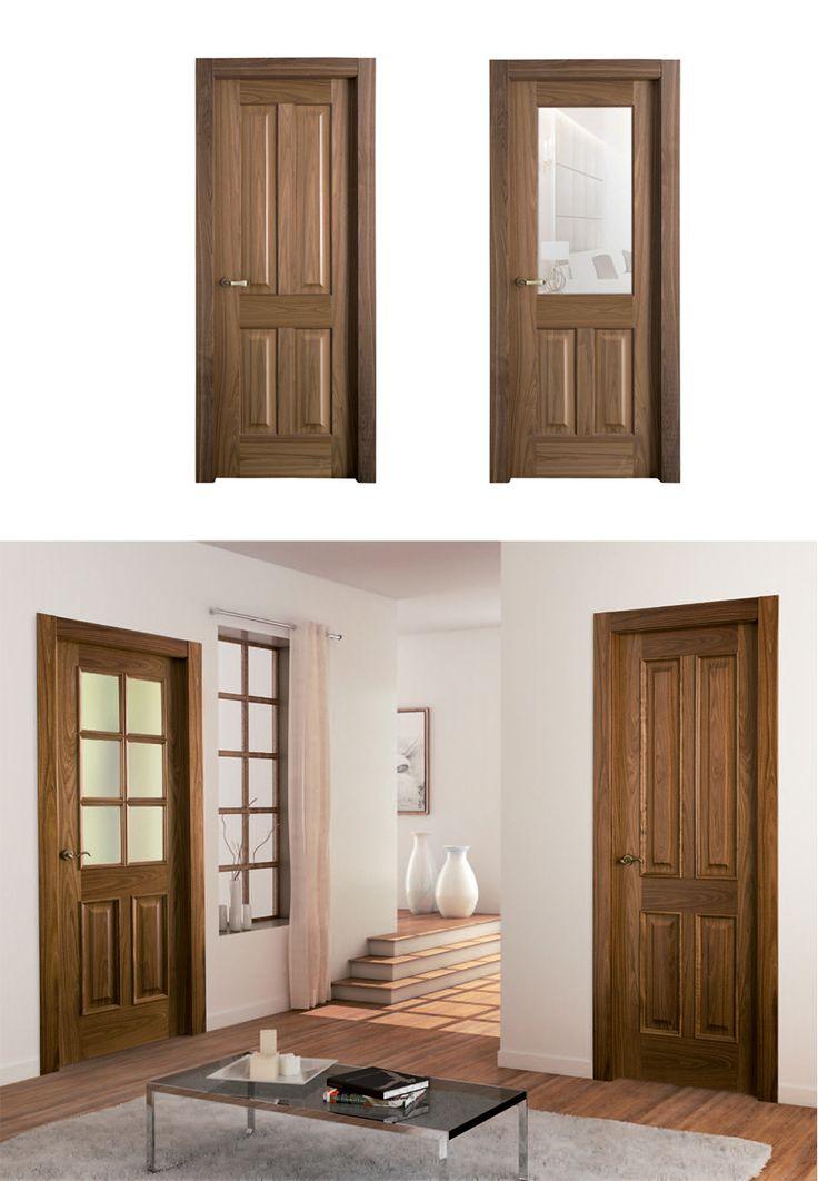 35 best images about madera oscura puertas de interior for Puertas batientes interior