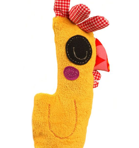 Yellow Chicken Cute Soft Toy Animal Doll Art Doll by COCOYOstore, €59.79