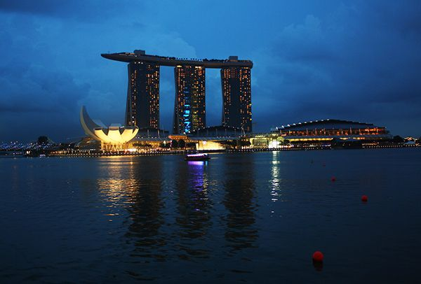 The Singapore skyline is an important part of my assignment.
